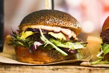 Tasty Vegan Burger Street Food