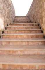stone staircase isolated