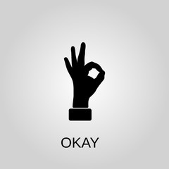 OK hand icon. OK hand concept symbol design. Stock - Vector illustration can be used for web.