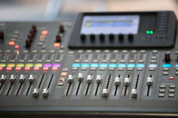 buttons equipment for sound mixer control,selective focus