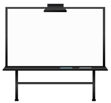 Black interactive whiteboard