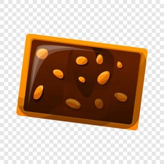 Chocolate nut biscuit icon. Cartoon of chocolate nut biscuit vector icon for web design