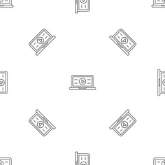 Video play pattern seamless vector repeat geometric for any web design