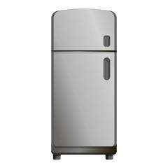 Retro fridge icon. Cartoon of retro fridge vector icon for web design isolated on white background
