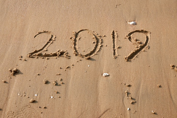 Handwriting 2019 In The Sand