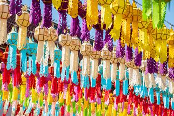 Paper Lanterns in Thai Temple