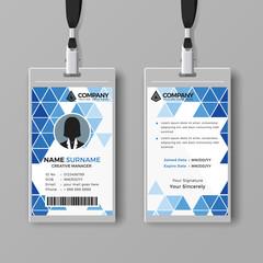 Modern ID card design template
