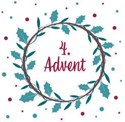 Fototapeta an advent wreath.  the 4. Advent. obraz