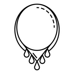 Beauty necklace icon. Outline beauty necklace vector icon for web design isolated on white background