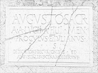 Herculaneum Plaque Pencil Sketch