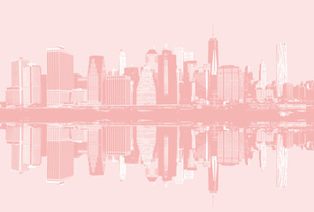 Manhattan skyline panorama poster