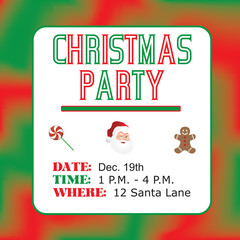 Christmas-Colorful Childrens Christmas Party Invitation