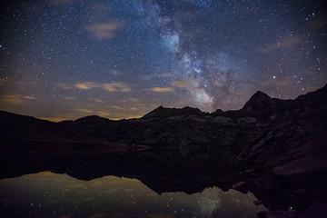 Milky way in Ibon de Estanés, Pyrenees, Spain