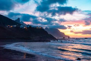 Sunset over ocean Tenerife