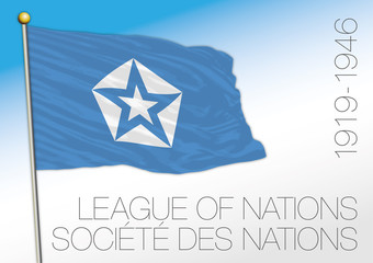 League of Nations historical flag, 1919 - 1946