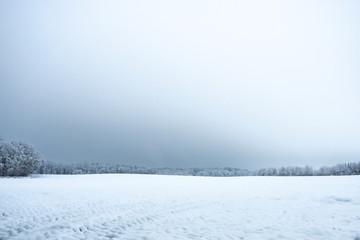 Weite Schneelandschaft