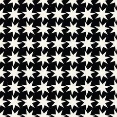 Seamless geometric star vector pattern. Retro design backdrop texture.