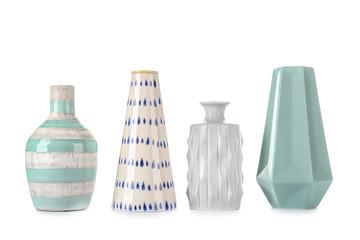 Obraz Different vases on white background - fototapety do salonu