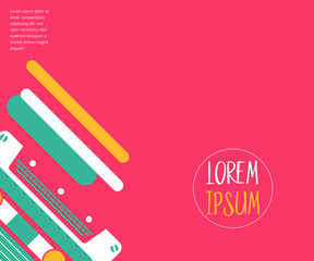 Colorful geometric 80's background
