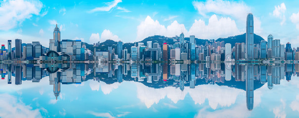 Hong Kong City Skyline and Architectural Landscape..