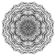 Ethnic ornamental mandala. Decorative design element. Vector illustration.