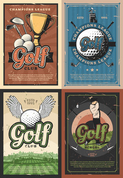 Champions league golf school club players posters