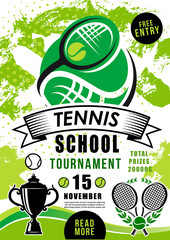 School tournament tennis sport vector competition
