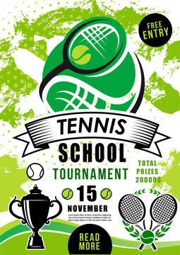 School tournament tennis sport vector competition