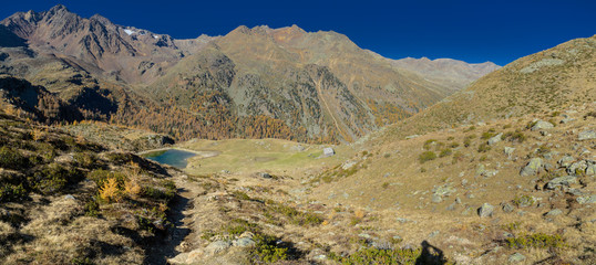 panoramic landscape in the alps
