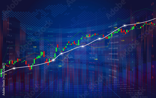 Investing and stock market concept gain and profits with