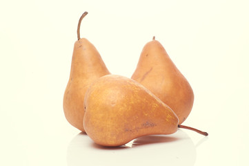 pears isolated on light background