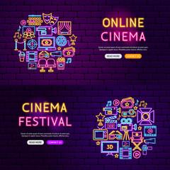 Cinema Website Banners