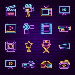 Film Neon Icons