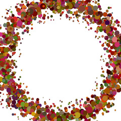 Abstract blank sprinkled confetti circle background - vector graphic
