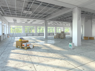 3D rendering premises under repair
