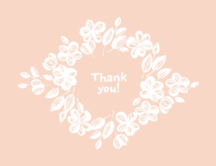 Thank you hand drawn vector lettering