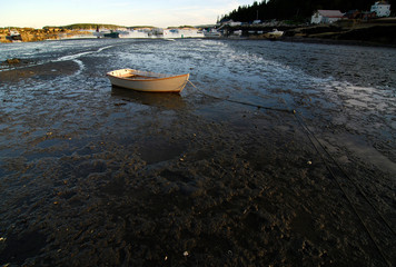 Stranded Dinghy at Low Tide