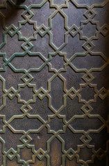 maroccan ornate metal door pattern