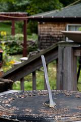 back porch sundial
