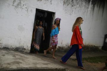 Garota TB beauty contest at the Talavera Bruce women prison in Rio de Janeiro