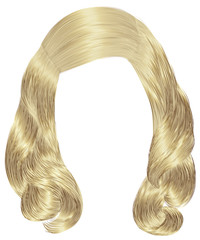 trendy woman long hairs blond colors .  beauty fashion .  realistic  graphic 3d.