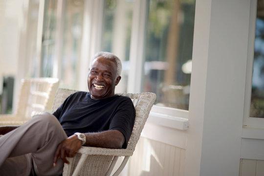 Portrait of a smiling mature adult man.