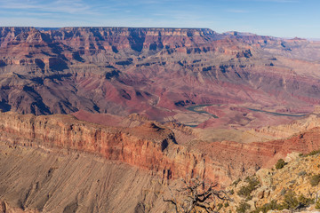 South Rim Grand Canyon Scenic Landscape
