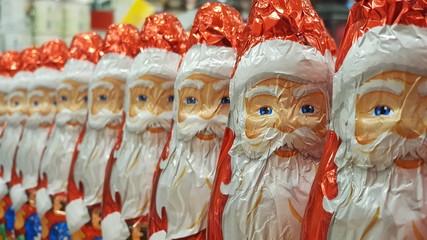 Schoko-Weihnachtsmänner