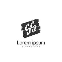 Initial letter SS Logo Template. Minimalist letter logo