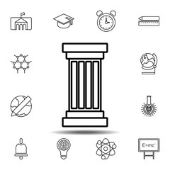 Column icon. Simple outline vector element of education set icons for UI and UX, website or mobile application