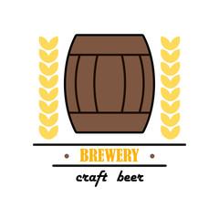 Label delicious foam beer drink. Premium craft beer. Label for the menu.