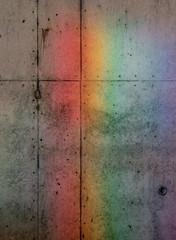 Rainbow Illuminated on a wall