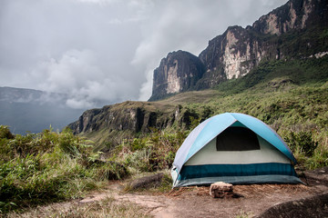 Camping on the bottom of Roraima