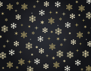 Snowflakes Christmas vector background illustration